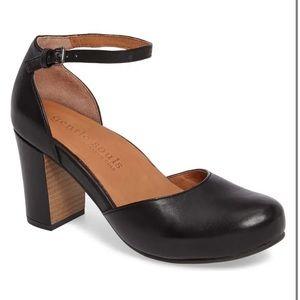 Gentle Souls Talena Black Leather Sandal Heels✨